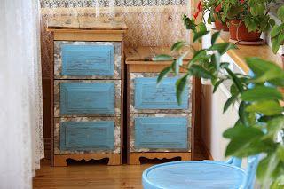uncinetto moda e fantasia: armadietti in 5 tipologie di legno con aplicazioni...