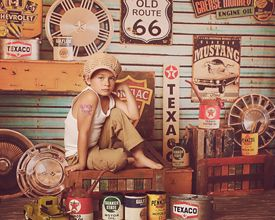 Grease Monkey Garage ~ Love this Photography Backdrop from Baby Dream Backdrops.