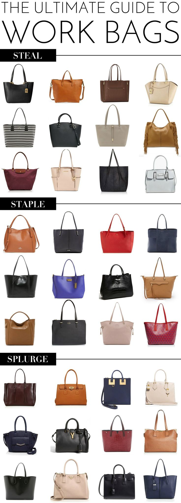 The Ultimate Guide to Work Bags + A Giveaway of Three Le Pliage Large Totes!