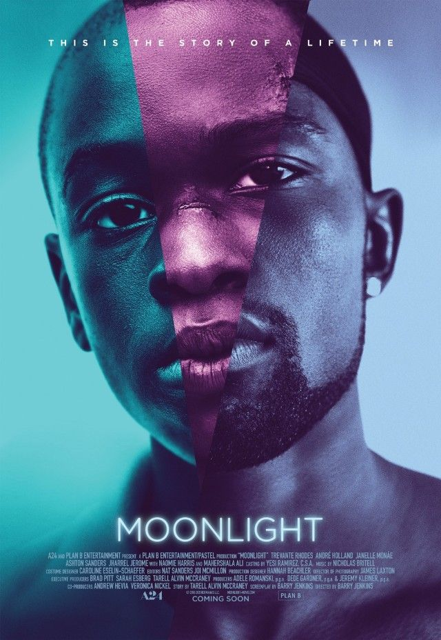 """Moonlight """"A chronicle of the childhood, adolescence and burgeoning adulthood of a young black man growing up in a rough neighborhood of Miami."""""""