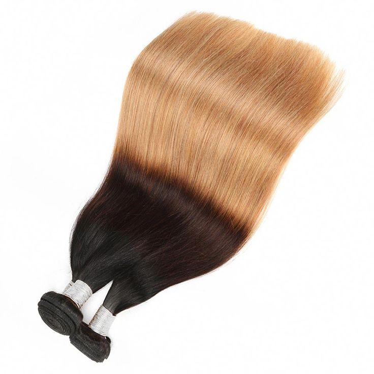 4Bundles/Lot T1B/4/27 Ombre Hair Weave Bundles Str…