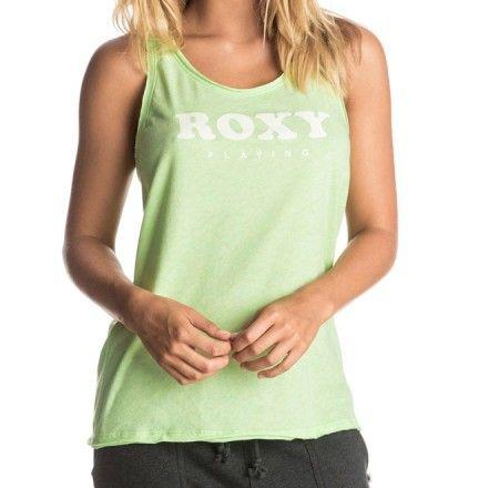 T-shirt Roxy Star Palace - Top sans manche pour femme Roxy - Boutique Cottay Shop - Haut de sport vert pastel - Running, cardio, zumba, marche active, fitness...