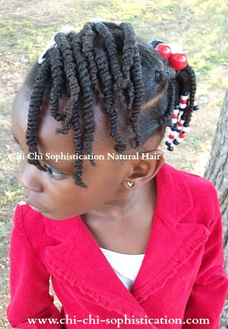 Double Strand Twist Ponytails Amp Beads For Kids Photo