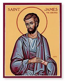 Feast of St. James the Greater; Christian Religious Observance; July 25; One of the 12 Apostles, the first Apostle martyred (by beheading, in Jerusalem). By ancient tradition, preached in Spain after the Crucifixion. A patron saint of Spain (as Santiago); his feast is important throughout Latin America.