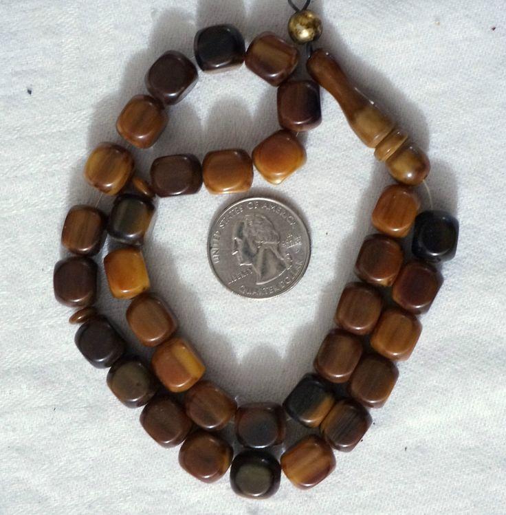 Vintage 33 Square Amber Bakelite Faturan Prayer Beads Rosary 17 Beads Imame | eBay
