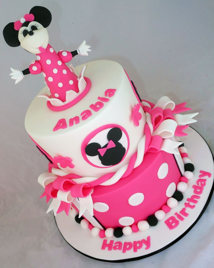 Hot Pink Minnie Mouse Cake by My Cake Place http://www.mycakeplace.com.au/