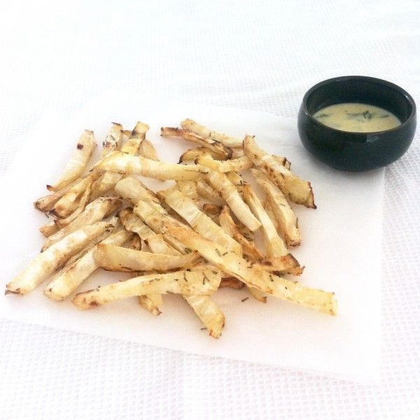 Gezonde frietjes van knolselderij