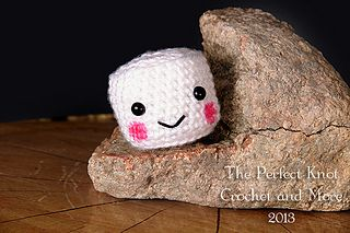 """Campfire The Mini Marshmallow - Free Amigurumi Crochet Pattern - PDF Format - Click """"download"""" or """"free Ravelry download"""" here: http://www.ravelry.com/patterns/library/campfire-the-mini-marshmallow-amigurumi"""