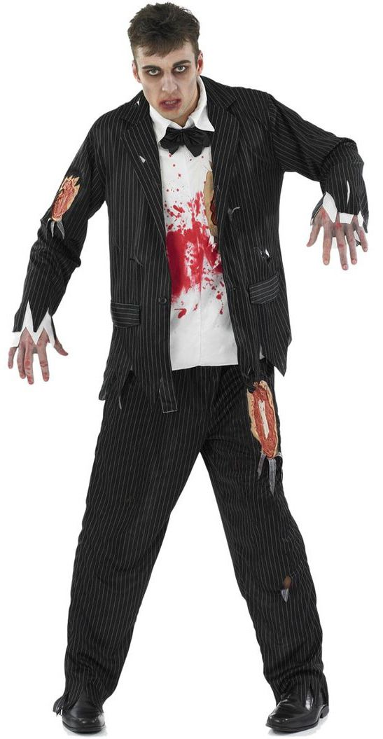 Pin Stripe Zombie Costume, Includes; Top and Trouser. #Halloween #Fancy #Dress #Costume #Mens #Outfit #Zombie #Prisoner #Corpse #Groom