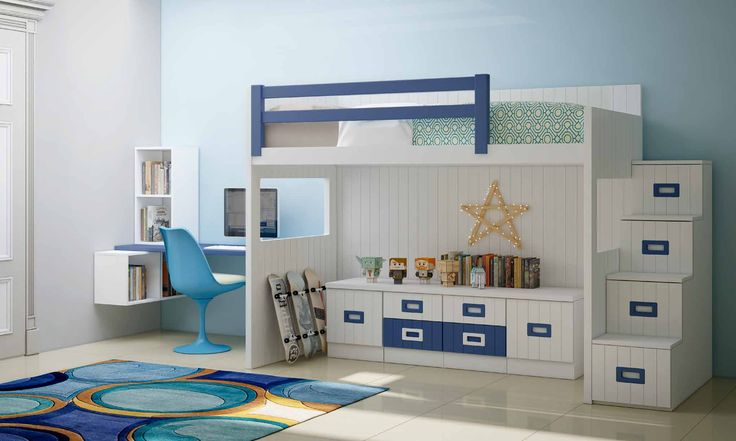 Con un diseño nórdico y vanguardista, este dormitorio con litera juvenil barato y moderno hará de su espacio un sitio totalmente único y acogedor. Sus materiales hacen de este, una pieza duradera y resistente. Consúltanos en nuestra tienda de muebles modernos y baratos en Madrid.