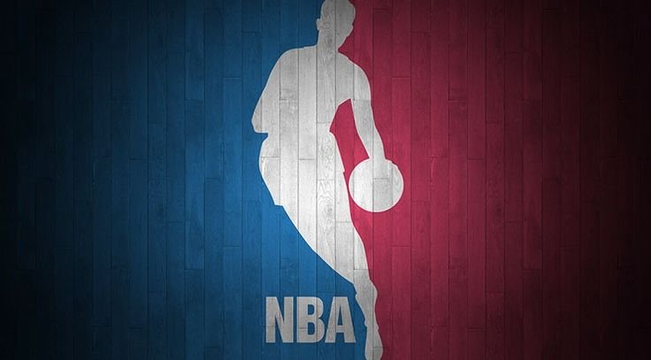 NBA logo on wood