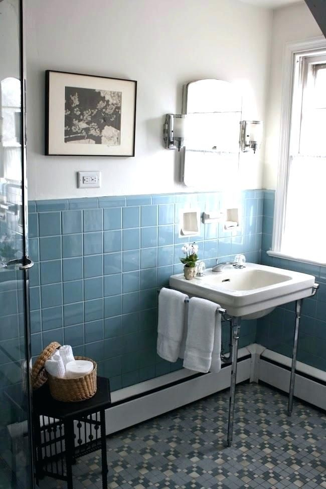 6 Blue Bathroom Ideas Soothing Looks Houseminds Best Bathroom Tiles Vintage Bathroom Tile Blue Bathroom Tile