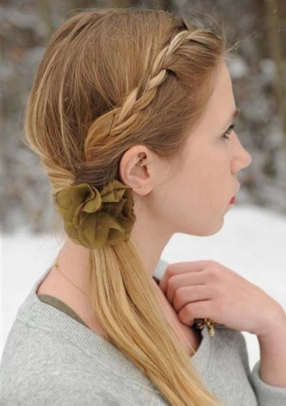 One Sided Twisted Ponytail For 2018 Braided Hairstyles Pinterest