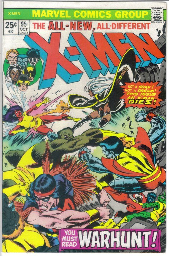 X Men 95 Claremont Signed X Men 94 Autograph Claremont Bronze Age X Men 1975 X Men Thunderbird Classic Comic Books Comics X Men