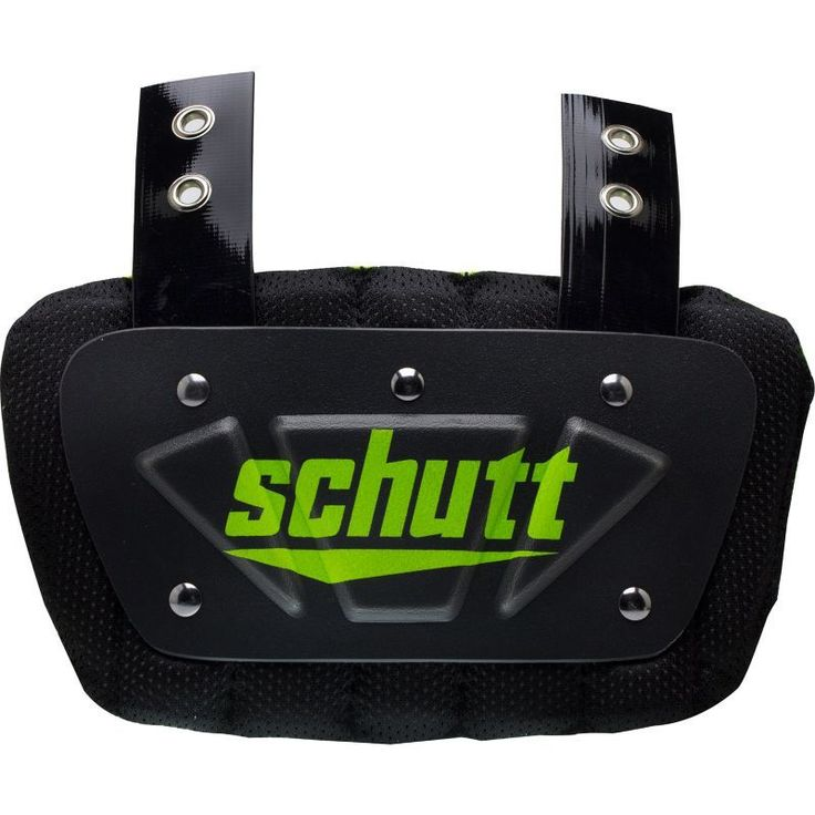 Schutt Youth Ventilated Football Back Plate, Gray
