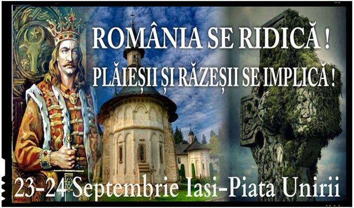 """Moldova se ridica impotriva celor care au distrus industria si economia romaneasca! Protest de amploare la IASI! Sub titlul """"Romania se Ridica! Plaiesii si Razesii se Implica!"""", organizatorii acestui protest incearca sa atraga atentia asupra zecilor de intreprinderi din IASI distruse cu larga complicitate a autoritatilor din Romania, sub masca unor privatizari care de cele mai multe ori s-au dovedit doar niste retete de fraudat proprietatea statului, insa care au avut niste rezultate…"""