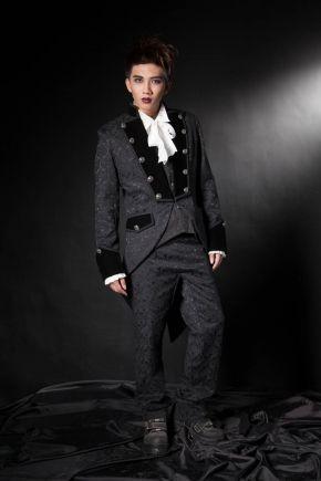 Veste Homme Queue de Pie Gothique Aristocrate Victorien