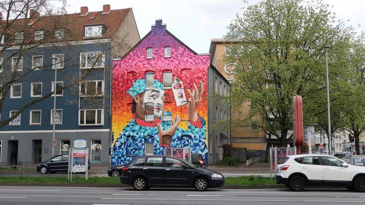 Fassadenmalerei in Hannover