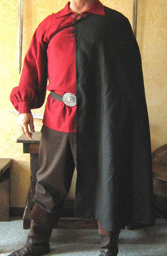 Medieval Celtic Noble Renaissance Half Cloak Cape