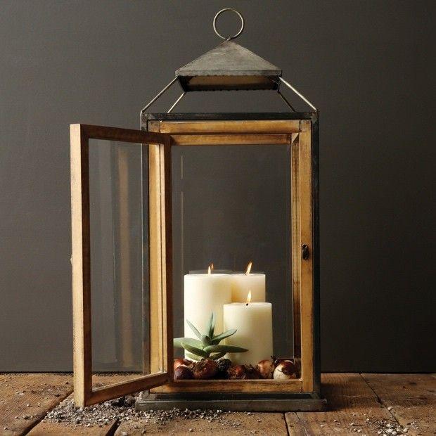 Large Square Candle Lantern