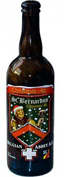 St. Bernardus Christmas Ale. This specialty beer of 10% alc. vol. is characterized by its deep dark color, with a creamy, thick head and a full, almost velvety taste with a fruity nose. #beer #Christmas #LuekensLiquors