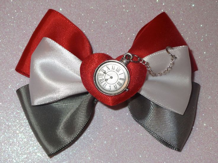 White Rabbit Alice in Wonderland Inspired Bow by PrincessMeeko, $8.50