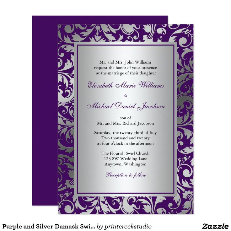 Purple And Silver Wedding Invitations 021 - Purple And Silver Wedding Invitations