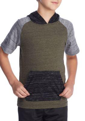Ocean Current Boys' Kingdom Colorblock Short Sleeve Hoodie Boys 8-20 - Napoleon - Xl