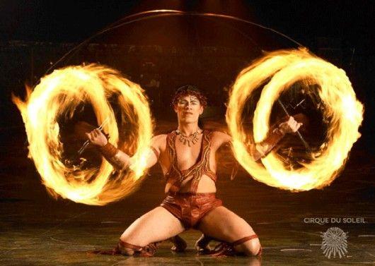 Fire dancers!