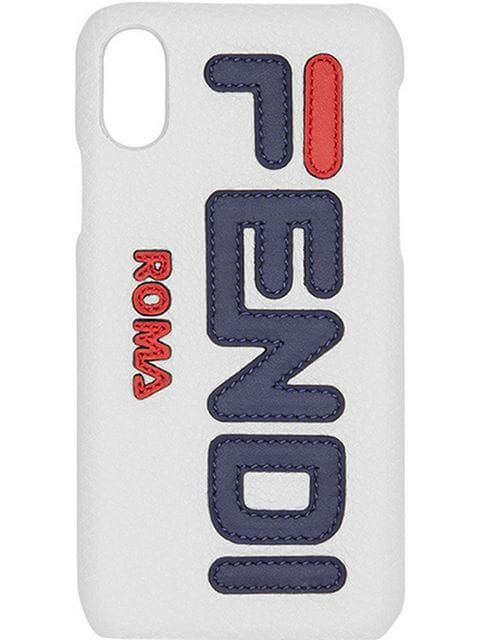 ab697d566f60 Fendi FendiMania logo iPhone X case