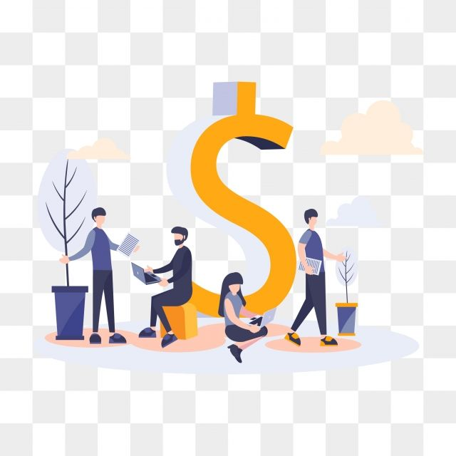 Flat Business People With Dollar And Team Work Business Businessman Png Transparent Clipart Image And Psd File For Free Download Teamwork Man Clipart Colorful Backgrounds