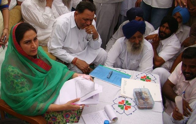 Harsimrat Kaur Badal, Minister Food Processing Industry on a Thanksgiving tour to Budhlada, Saidewala, Bareta and Sadurgarh Jhunir on August 22 and 23.