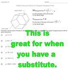 I have used this as a check to see if the students can apply the given formulas for finding the surface area and volume of a hexagonal prism.  It's...