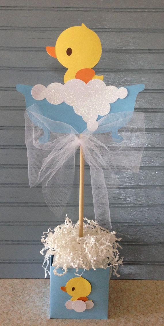 Centro de mesa ducha bebé Ducky de goma por NoOneLikeYou en Etsy