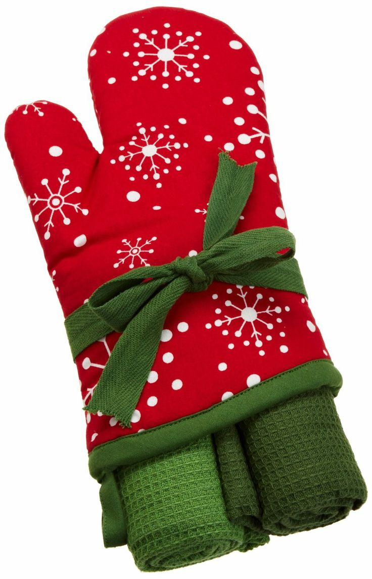 Delightful Amazon.com   DII Christmas Kitchen Snowflake Holiday Oven Mitt Gift Set,  Includes 2