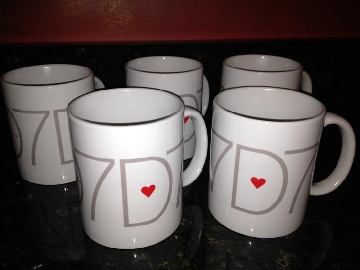 My Design Seven heart mugs