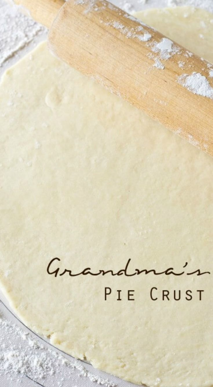 Grandma's Pie Crust ~ Buttery, flaky, and takes just a few minutes to make... A family favorite!