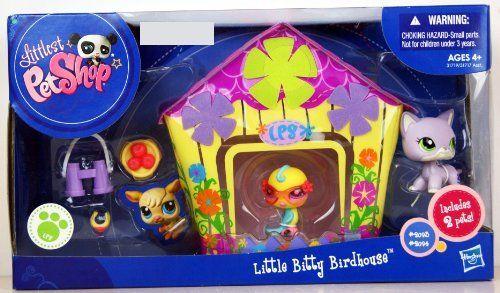 EXCLUSIVE Littlest Pet Shop LPS Little Bitty Birdhouse Playset Includes 2 Pets…