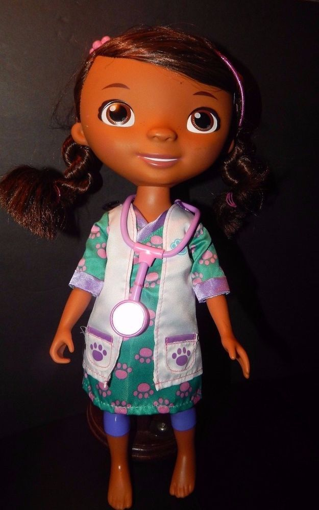 "Disney Jr Doc McStuffins My Friend Doc Doll  Pet Vet Doctor 13"" Jointed EUC #DisneyDisneyJr"