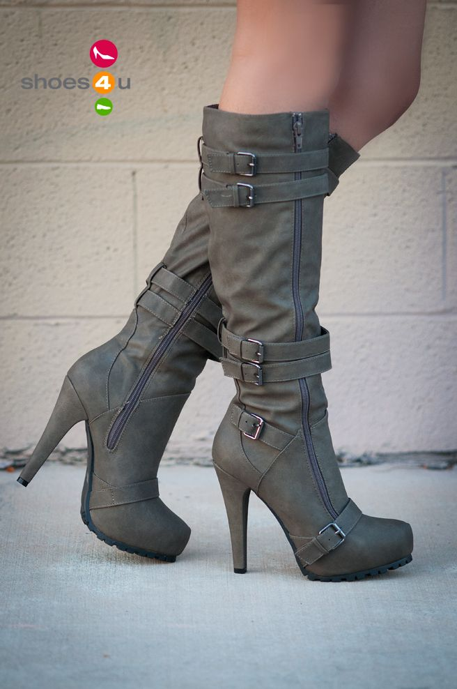 Buckle Knee High Boot