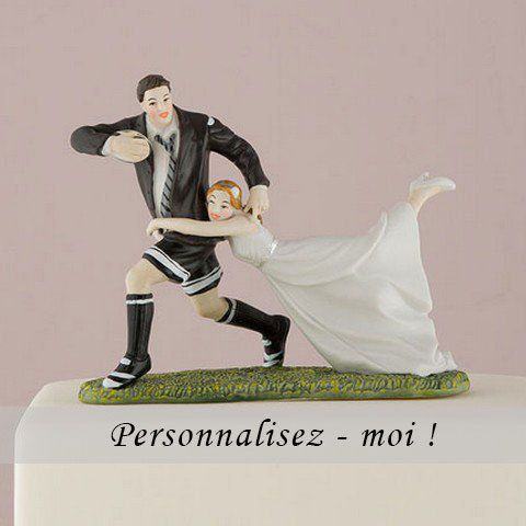 Figurine de mariage match de rugby