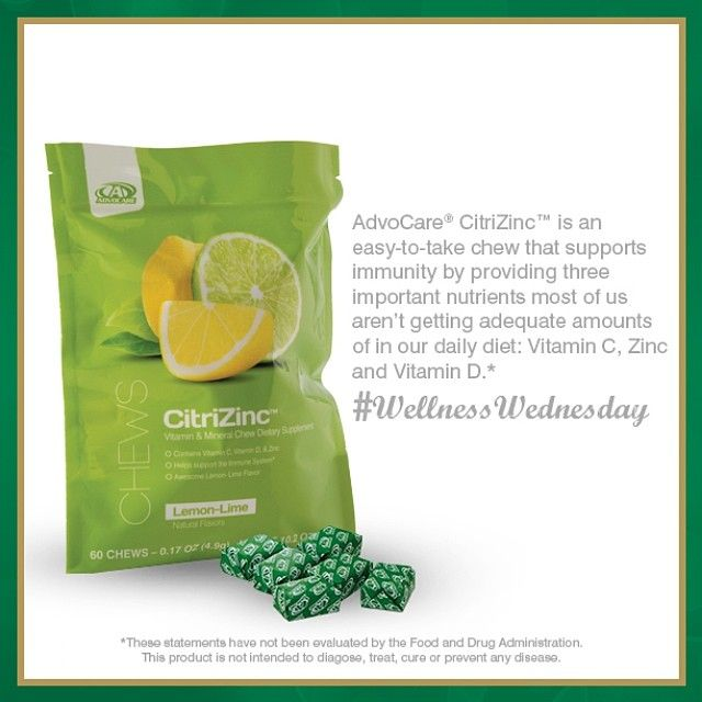 For a fun way to provide a great source of vitamin C, zinc and vitamin D, try AdvoCare® CitriZinc™!