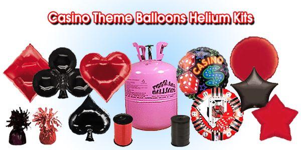 Casino helium balloons