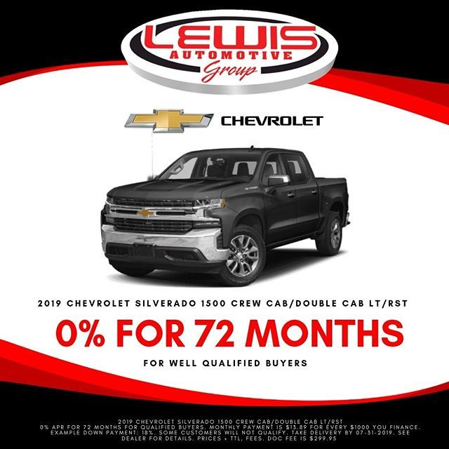 Get 0 Financing For 72 Months On A New Silverado From Lewis Chevrolet Chevrolet Findnewroads Chevy Lewische Chevrolet New Silverado Chevrolet Dealership