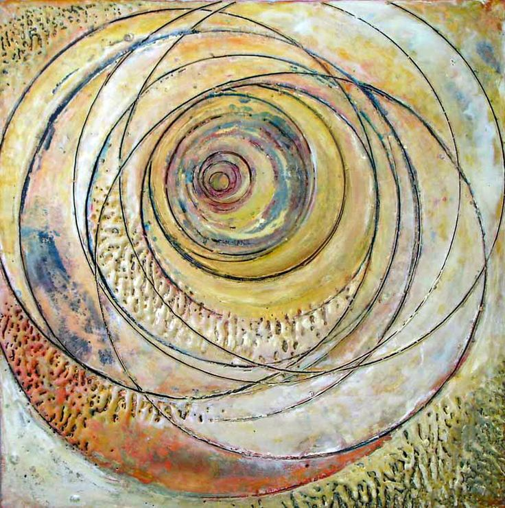 "24"" x 24"" Encaustic on wood 2005"