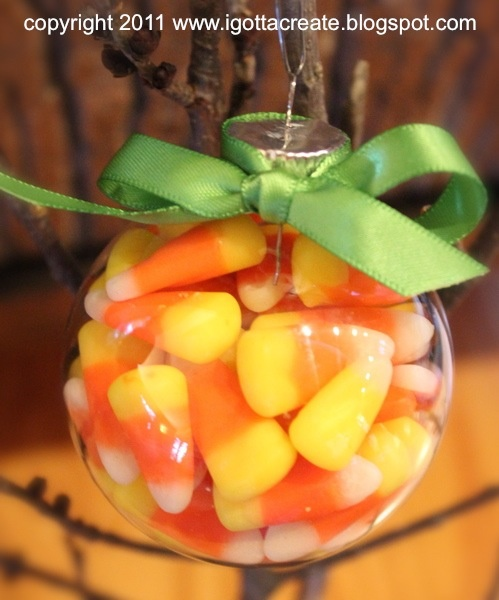 Candy Corn Ornament: Ornaments Tutorials, Corn Ornaments, Glasses Ornaments, Jack O' Lanterns Tutorials, Pumpkin, Cotton Candy Fudge, Candy Corn, Gotta Create, Corn Jack O' Lanterns
