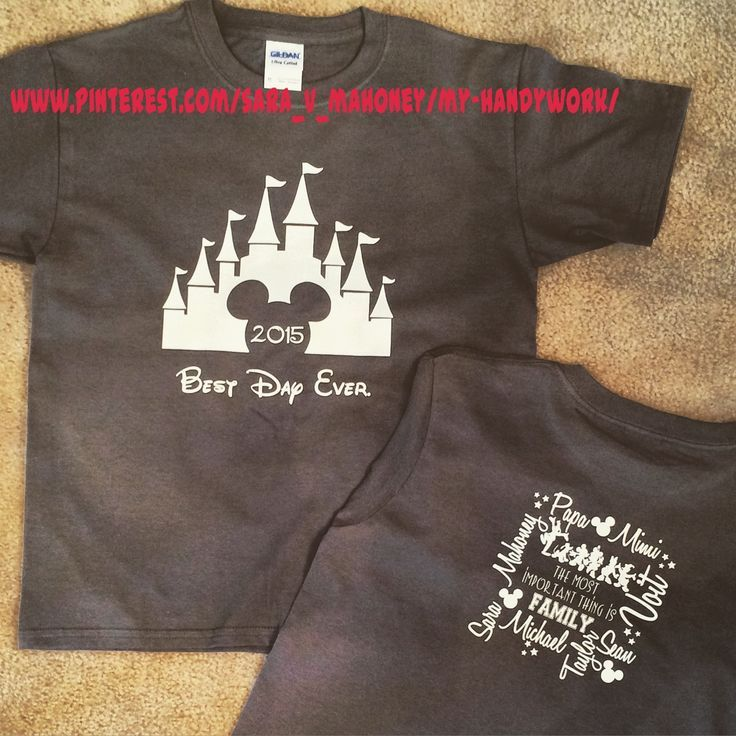 Disney Family Vacation Park T-Shirts using my Silhouette Cameo and HTV - latest men's casual shirts, white cotton shirt mens, mens formal shirts *ad