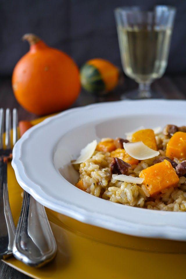 Kürbis-Risotto mit Maronen I Pumpkin risotto with chestnuts I Sia´s Soulfood