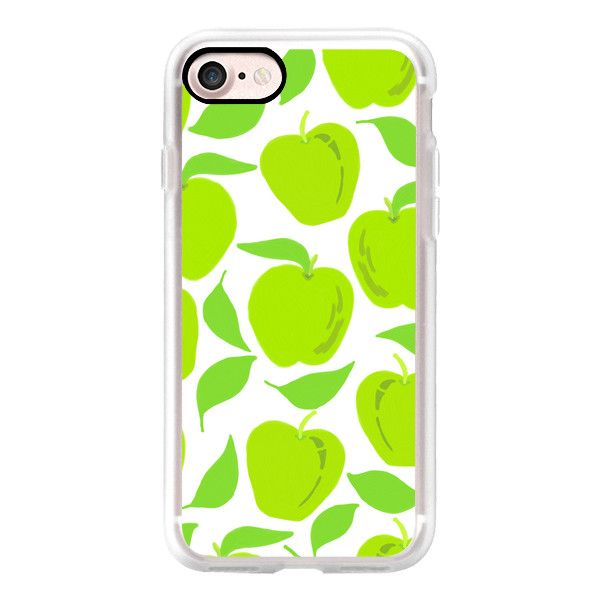 So Green Apples - iPhone 7 Case, iPhone 7 Plus Case, iPhone 7 Cover,... ($40) ❤ liked on Polyvore featuring accessories, tech accessories, iphone case, iphone cases, iphone cover case, apple iphone cases and slim iphone case