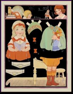 Berta and Elmer Hader paper dolls